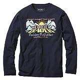 [エディー・バウアー] Eddie Bauer 長袖スラブコットンエディーバウアーダウンロゴクルーネックTシャツ 長袖Tシャツ メンズ (アトランティック XL)