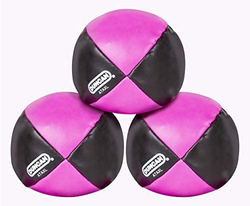Duncan Juggling Balls - [Pack of 3] Multicolor, Vinyl Shells, Circus Balls with 4 Panel Design, Plastic Beans