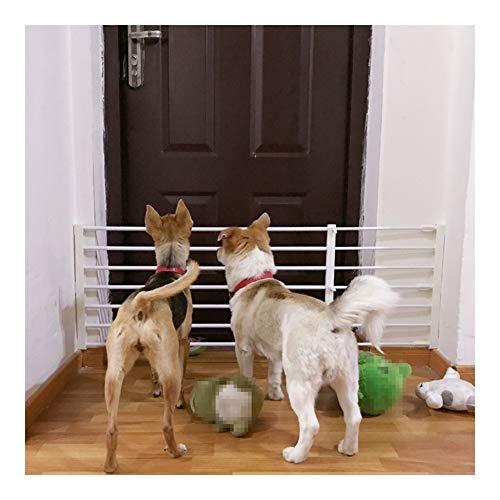 AGLZWY Valla para Mascotas Puertas De Seguridad para Perros Barra De Puerta Ajustable Puerta Aislamiento Balcón Extensible Punch Free Cocinas Pasillo, 6 Tamaños (Color : White, Size : 75-120x42cm)