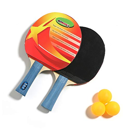 Best Prices! Niguleser Table Tennis Racket Bat Set, Professional Pingpong Paddle with 3 Balls and Ca...