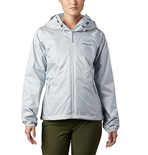Columbia Ulica, Chaqueta impermeable, Mujer, Gris (Cirrus Grey Sheen), S