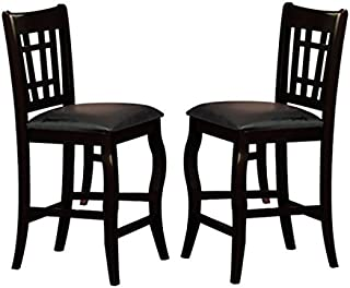 Milton Greens Stars 8728BK Burgos Counter Height Chair, Black, Set of 2