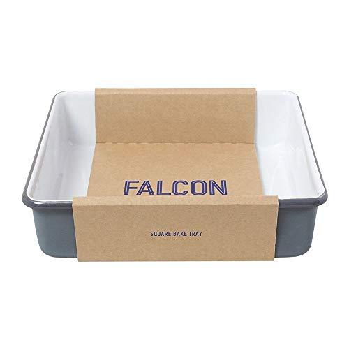 Falcon Enamelware, teglia quadrata per arrostire, colore grigio piccione
