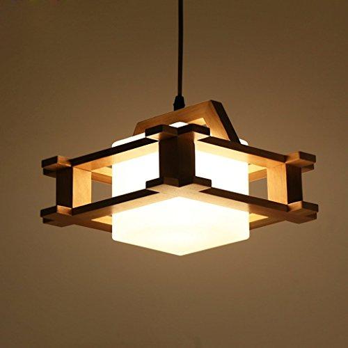 PIGE Simple bois chevet de style japonais moderne Creative LED salon balcon de la chambre couloir Nordic Pendant Lamp D-038