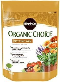 Miracle Gro 72978510 8 Qt Organic Choice Potting Mix 0.10-0.05-0.05