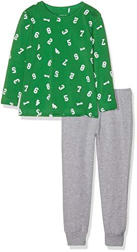 NAME IT NAME IT Jungen NMMNIGHTSET NOOS Zweiteiliger Schlafanzug, Mehrfarbig (Grün Medium Green), 98