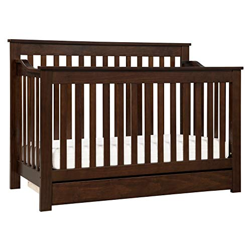 DaVinci Piedmont 4-in-1 Convertible Crib with Toddler Bed Conversion Kit in Espresso | Greenguard Gold Certified