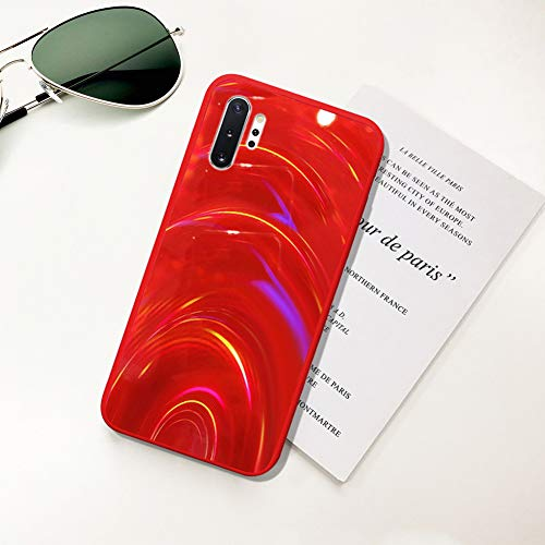 Ysimee Hülle kompatibel mit Samsung Galaxy Note 10 Plus/Note 10 Pro,[Bunte Serie] Dünn Stylische Handyhülle, TPU Case Weiche Silikon Schutzhülle Bumper Schutz vor Stoßfest/Scratch Hülle - rot