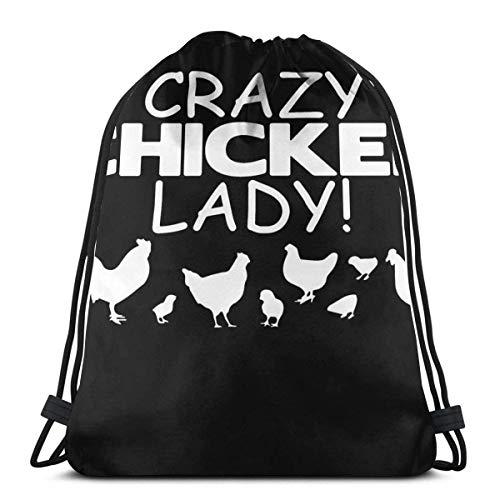 Kordelzug-Taschen Crazy Chicken L Custom...