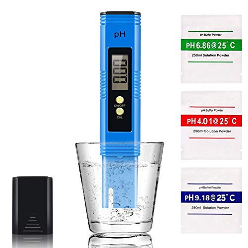 Digital PH Meter, PH Meter 0.01 PH High Accuracy Water Quality Tester with 0-14 PH Measurement Range for Household Drinking Water, Swimming Pools, Aquariums
