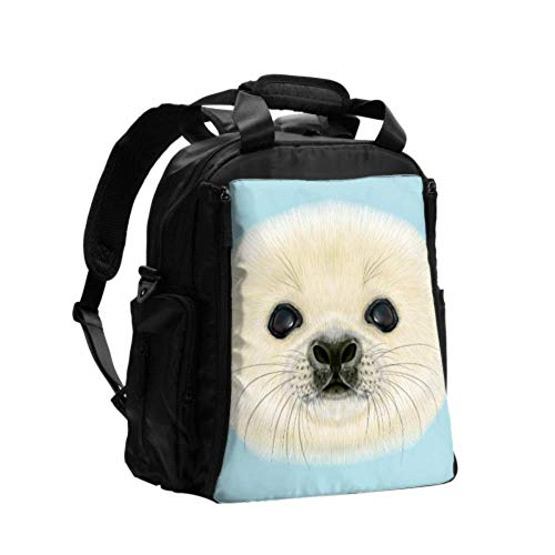 Nappy Changing Bag Portable Illustration Beagle Dog Diapers Bag Backpack Multifunction Travel Backpack with Diaper Changing Pad for Baby Care