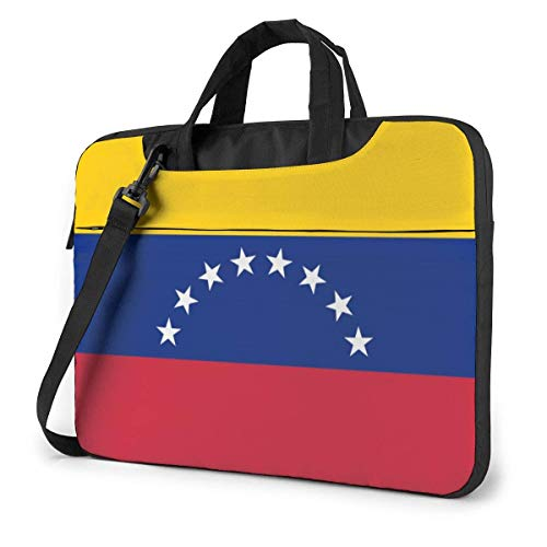 QUEMIN Flag of Venezuela Estuche para computadora portátil con correas para los hombros para computadora portátil, 14 pulgadas