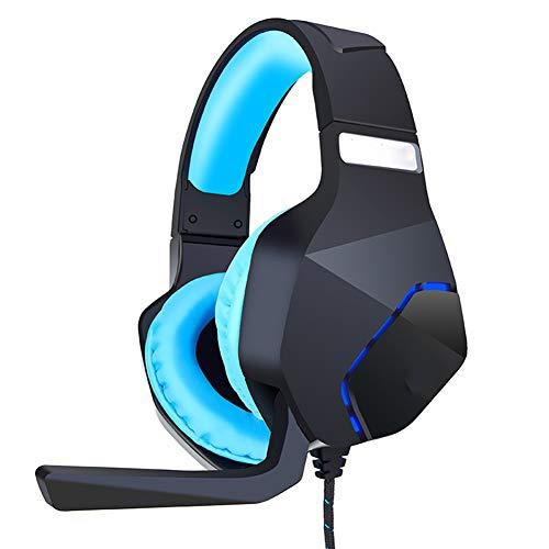 Casque de jeu à fixer sur la tête, avec microphone USB, réduction du bruit ambiant, haute fidélité 50 mm, faisceau télescopique PPT