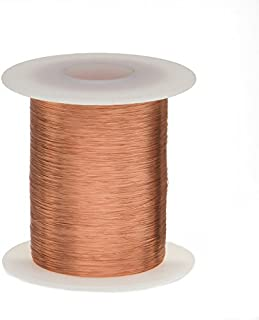 """Magnet Wire, Enameled Copper Wire, 42 AWG, 2 oz, 6414` Length, 0.0026"""" Diameter, Natural"""