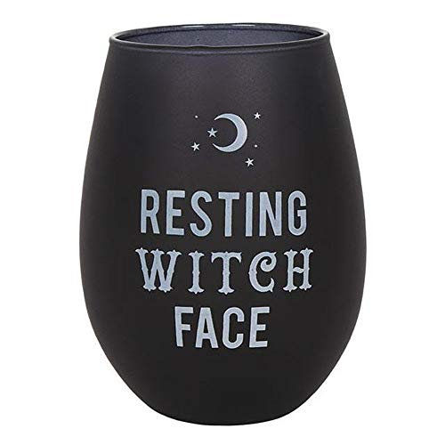 Spirit of Equinox Resting Witch Face Stemless Wine Glass