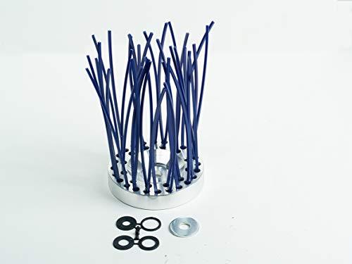 Ratioparts 6-708 Unkrautbürste OCTO Pro 200 mm, 25,4 mm Durchmesser-Bohrung 18 Fäden Wildkrautbür Reinigungsbürste, Blau