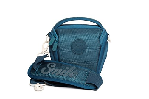 Smile - Bolsa Holster para cámaras fotográficas DSLR y Réflex, Azul