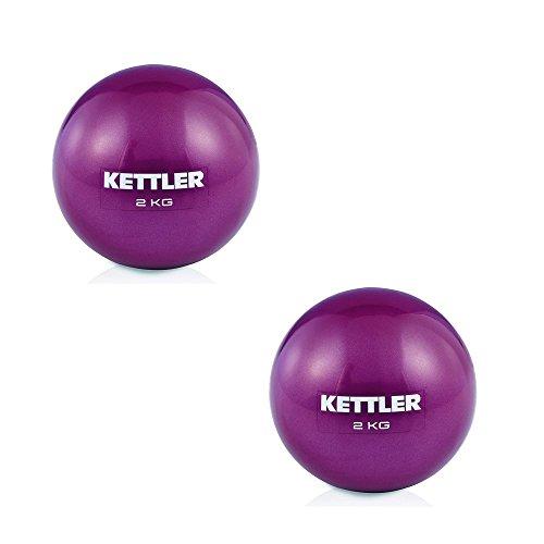 Kettler - Juego de dos bolas de tonificación para entrenamiento, fitness, tonificación y apriete, para mujer