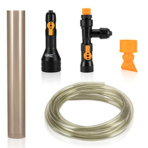 hygger 25ft Automatic Aquarium Water Changer, Siphon Fish Tank Gravel Vacuum Cleaner, with Flow...