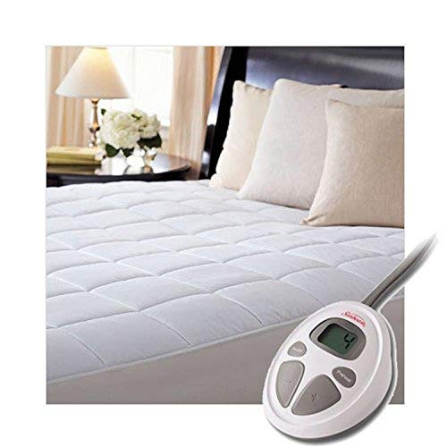 Sunbeam Luxury Quilted Electric Heated Twin Mattress Pad