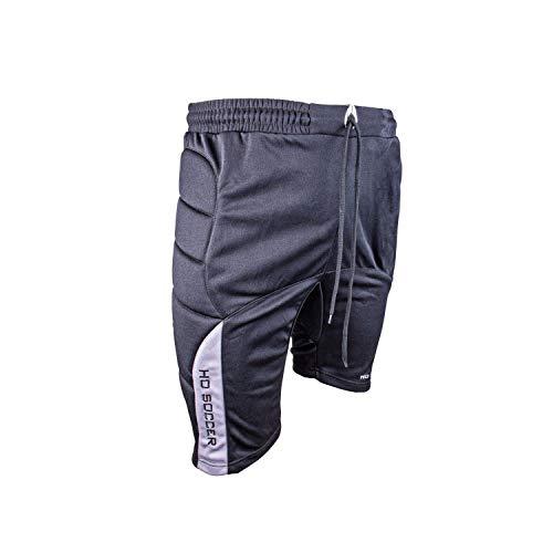HO Soccer Icon - Pantaloni da Portiere Corti Imbottiti da Uomo, Uomo, 0505575_L, Nero, L