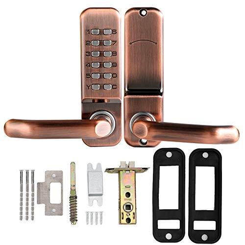 Cerradura de puerta inteligente, mecánica Botón de bloqueo digital inteligente Cerradura de puerta Teclado de inicio Código sin clave Contraseña Cerradura de puerta Cerradura a prueba de agua