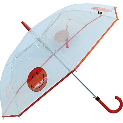 Regenschirm durchsichtig transparent Smiley World - orange