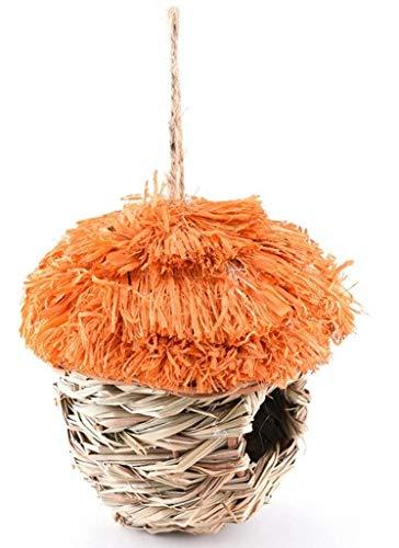 YAzNdom Handgeweven vogel kooi stro vogel nest leeuwerik vogel kooi ecologische vogel nest