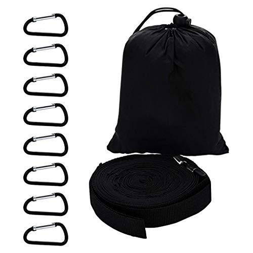 JINGDU - Tendedero para acampar al aire libre, duradero, 19 bucles, para tienda de campaña, almacenamiento de herramientas al aire libre