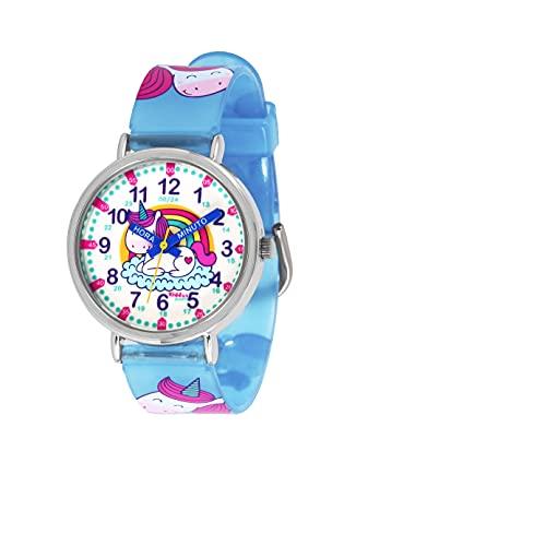 KIDDUS Reloj Educativo para niño, Chica, Chico. De Pulsera, analógico. Time...