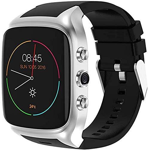 XXCLZ 4G Smartwatch, Fitness Tracker con SIM Fessura per Carta, Monitor di frequenza cardiaca e la Macchina Fotografica Music Player,Silver