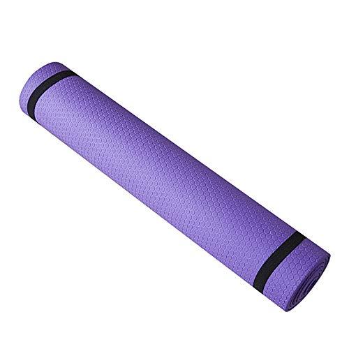 ALLOMN Trainingsmatte, Trainingsmatte, rutschfeste 6mm Dicke Yogamatte für Frauen Männer Fitness Trainieren von Heim Fitnessgeräten (Lila)
