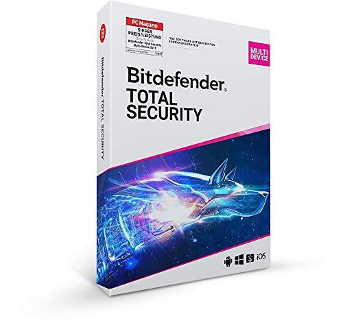 Bitdefender Total Security - 5 Geräte | 1 Jahr Abonnement | PC/Mac | Aktivierungscode per Post
