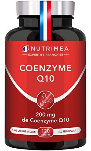 COENZYME Q10 200mg/jour - Puissant antioxydant 100% naturel - Protecteur anti-âge - Énergie cellulaire - Absorption maximale - Forme la plus stable - 120 gélules végans - Nutrimea - Fabriqué en France