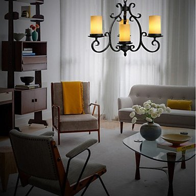 Moderne kroonluchter plafondverlichting hanger zwart metaal plafondlampen met glazen kappen gang woonkamer slaapkamer eetkamer keuken bar café terras 3C Ce FCC-buizen voor woonkamer slaapkamer, Ke