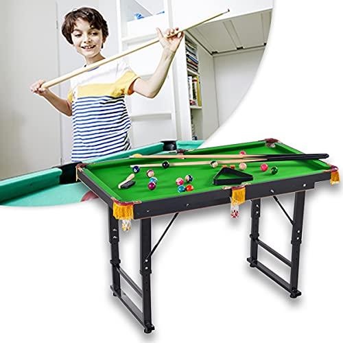 HIMAPETTR Mesa De Billar Plegable con Accesorios Completos, Fácil Montaje, Ideal para Jugar con Niños Y Adultos En Fiestas, De Camping Y De Viaje(144x63x75cm),A