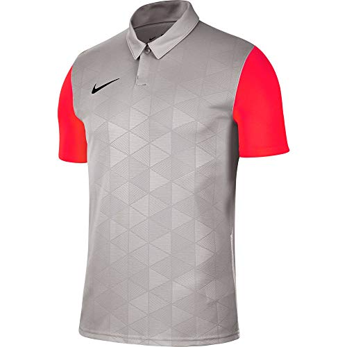 Nike Herren Trophy IV Poloshirt, Pewter Grey/Bright Crimson/Black, 2XL