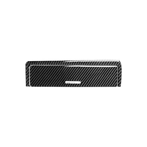 Carrfan Caja de Engranajes del Instrumento Interior de Fibra de Carbono Cubierta Decorativa de la Etiqueta del Marco del Ajuste Clave para BMW Serie 3 E46 (1998-2005)
