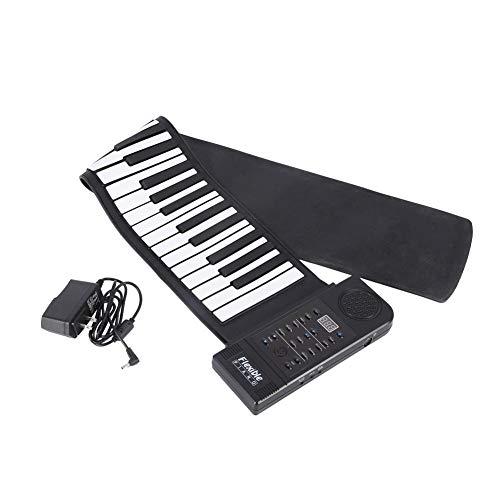 Roll Up Piano, tragbares 61-Tasten-elektronisches weiches Silikon Flexibles Klavier Elektronische Digitale Musik Tastatur Klavier für Kinder Erwachsene Home Entertainment Musikpraxis