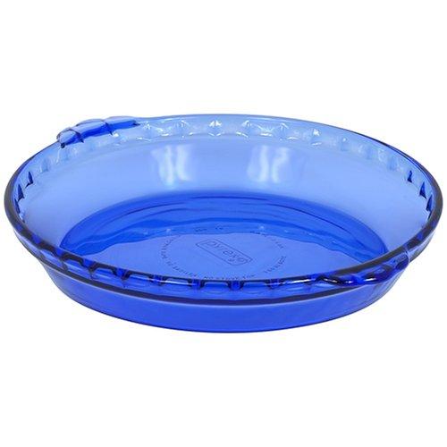 Pyrex Bakeware 9-1/2-Inch Pie Plate, Cobalt