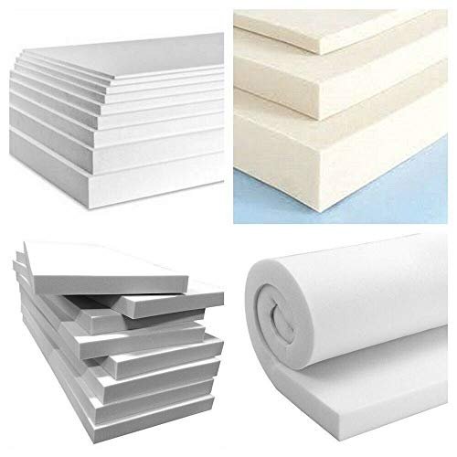 High Density Upholstery Foam Sheet Cut to Any Size Replacement Sofa Cushions Size Cushions seat pad Seating Dinning Seat Stool Chair Foam Seat Padding