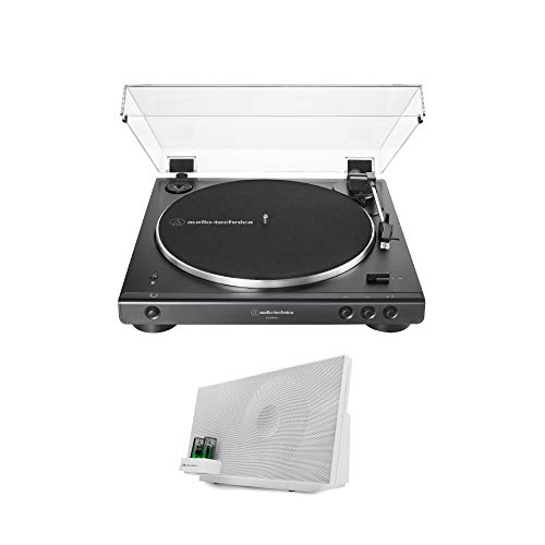 Audio-Technica AT-LP60XBT-BK Fully Automatic Bluetooth Belt-Drive Turntable Bundle with Knox