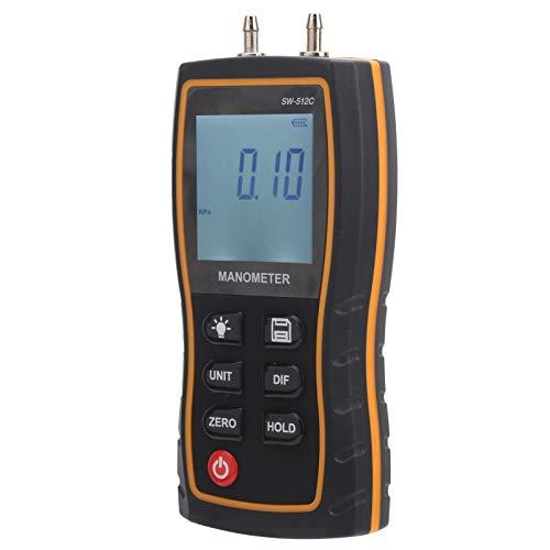 Manómetro de Prueba de presión de Aire, manómetro de Gas, HVAC portátil liviano para Sistemas de Aire Acondicionado Sistemas de ventilación Cualquier Sistema de presión de Gas Sala Limpia