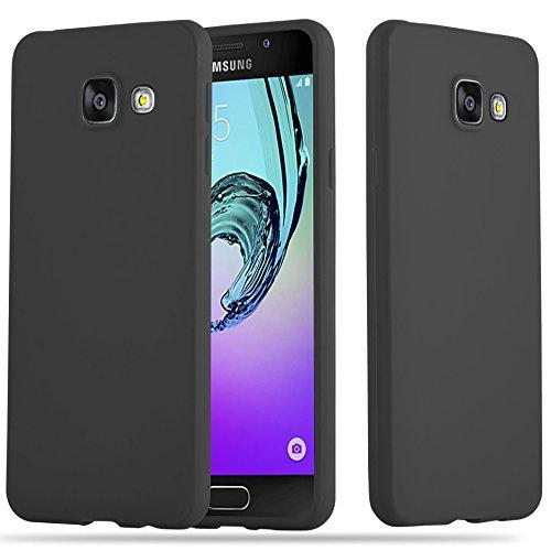 Cadorabo Hülle für Samsung Galaxy A3 2016 (6) - Hülle in Candy SCHWARZ – Handyhülle aus TPU Silikon im Candy Design - Silikonhülle Schutzhülle Ultra Slim Soft Back Cover Case Bumper