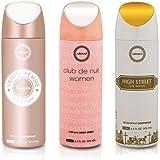 Armaf 3 pc Armaf Perfume Body Spray Alcohol Free 6.6 oz Vanity Femme Essence/Club de nuit/High Street For Women