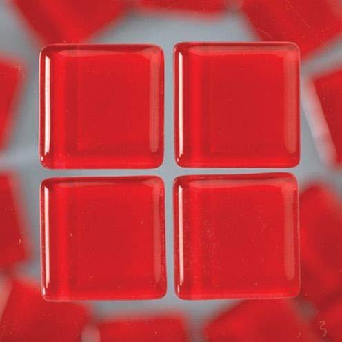 MosaixSoft 10x 10x 4mm 200g 215-piece Glas Fliesen, rot