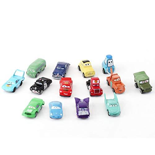 14 Pcs Mini Racers Cars Miniature Car Figurine Toys Car Cake Toppers Cupcake Decorations