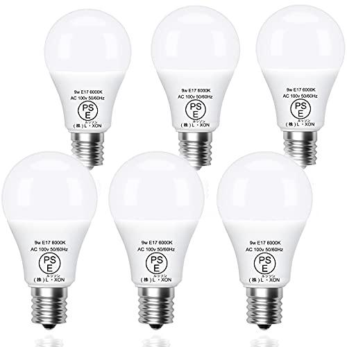 【五年保証】L・XON LED電球 90w相当形電球 E17 6000k 昼白色 非調光タイプ 広配光 高演色 PSE認証済み 密閉器具対応 断熱材器具対応 6個入り