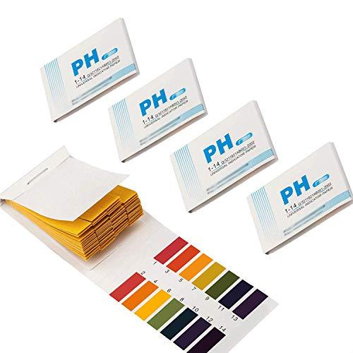 GeekerChip pH Teststreifen[400 Pcs]pH-Wert-Bereich 1-14 für Wasser Schönheit Produkte und Erde mit Kontrollkarte