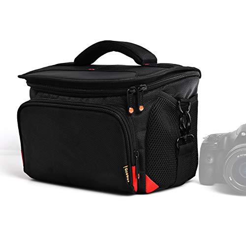 FOSOTO Funda para Cámara Refléx DSLR Bolsa Fotográfica de Hombro Impermeable y Antichoque Caber 1 Cámara Refléx DSLR y 2 ó 3 Lentes para Canon Nikon Sony Panasonic Fujifilm